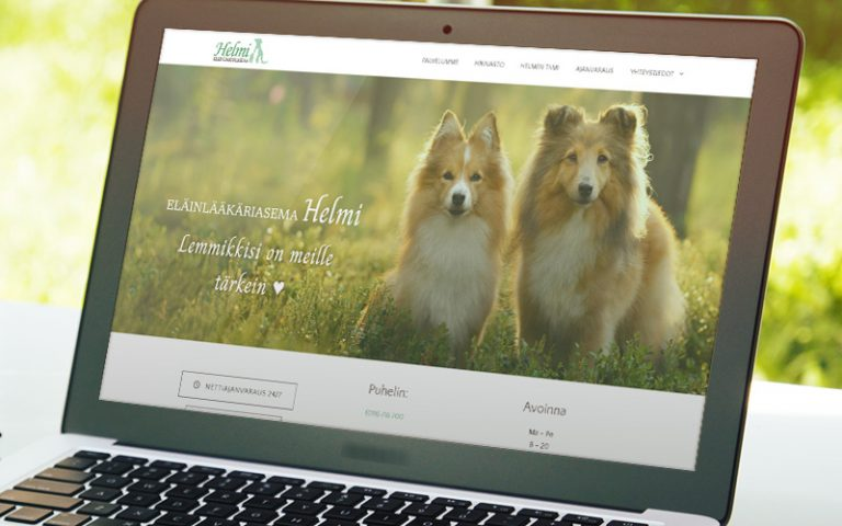 Eläinlääkäri Helmen nettisivujen uudistus